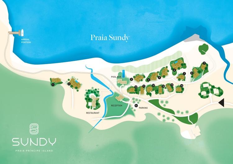 Mapa resort Sundy Praia